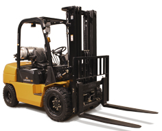 Forklift pneumatic combustion